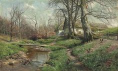 Farmstead by a river - by Christie's