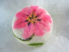 One 3.5 ounce wool felted bar of glycerin soap of a pink clematis. Each felt bar softly scented with the fragrance of your choice. Because I hand felt each soap one at a time with hand dyed wool, each bar is a little work of art and unique. The option of gift wrapping is available for this