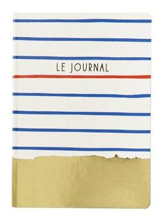 back to school shopping list red and blue strip journal