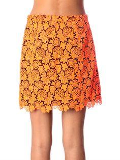 Christopher Kane Floral-lace mini skirt