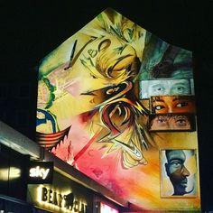 """Stadtwesen"": a 2017 mural by gbnf in St. Street Art, World, Painting, Urban Art, Travel Report, Tours, Hamburg, Viajes, Painting Art"