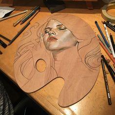 "Polubienia: 9,739, komentarze: 46 – Wendy Ortiz (@wendyortizart) na Instagramie: ""First layers of #colorpencil on #wip"""
