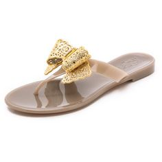 Salvatore Ferragamo Pandy Jelly Thong Sandals - Greige