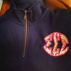 Tri Sigma 1/4 Zip. Interested in placing an order? Contact Stitchtime at info@stitchtime.com or (616) 662-2020
