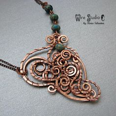 Master Class - a pendant made of copper wire. This tutorial is written in RUSSIAN.