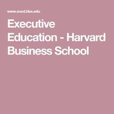 Executive Education - Harvard Business School