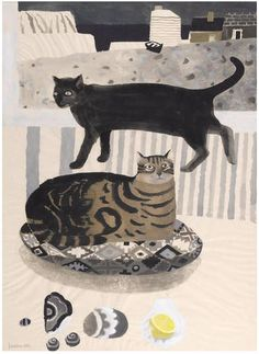 Cats by the sea, Mary Fedden
