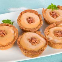 Tartelette caramel noix sur Recettes.net #dessert #yummi #cake #caramel #delicious #food #foodie #cuisine #fete #noel #hiver #winter #noix