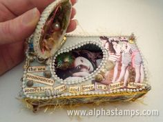 Seashell Matchbox with clever hinged-shell lid by Caroline Ouzts-Hay!