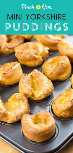 These Mini Yorkshire Puddings are the best for a roast dinner – perfect if you're calorie counting or following a diet plan like Weight Watchers. #mini #yorkshire #puddings #side