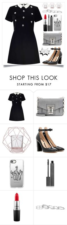 """Warm And Cozy"" by itsybitsy62 ❤ liked on Polyvore featuring Miss Selfridge, Proenza Schouler, Bloomingville, Gianvito Rossi, Casetify, Burberry, MAC Cosmetics, Kendra Scott and under100"