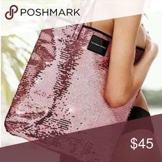 NEW NEVER USED Victoria's Secret pink sequin tote. NEW NEVER USED Victoria's Secret pink sequin tote. Victoria's Secret Bags Totes