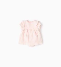 TOPSTITCHED CREPE DRESS-DRESSES AND TROUSERS-MINI | 0-12 months-KIDS | ZARA United States