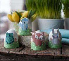 My Owl Barn: Printable Woodland Friends Easter Egg Holders & Napkin Rings