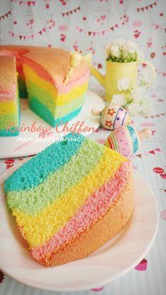 MiMi Bakery House: Rainbow Chiffon Cake 2 [07 June 2016]