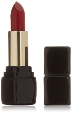 Guerlain Kiss-Kiss Shaping Cream Lip Color Lipstick for Women, No. 321 Red Passion, 0.12 Ounce. This lipstick leaves lips with covetable color and ultra-comfortable texture. It is enriched with hydrating mango butter and hyaluronic acid spheres. Offers a satiny, vibrant finish that's budge-proof.