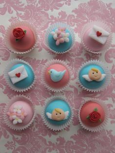 Lovely Valentine's CAKE POP Toppers 24 Toppers by mimicafeunion, $18.00