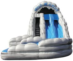18' Wild Rapids Dual Lane Inflatable Water Slide with a Pool. Fun for all ages at your next summer party. Even the adults like it!