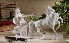 Charge of the Roman Charioteer Sculpture