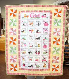 A baby quilt on the AmericanQuilting site. This will be perfect for my little grandaughter that Is due in November.