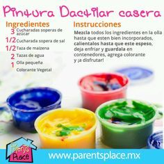DIY paint 3 soup spoons of sugar spoon of salt cup of cornstarch 2 cups of water Mix everything in a pot and boil it until thick. Let it cool and add any color you want! Projects For Kids, Diy For Kids, Cool Kids, Crafts For Kids, Infant Activities, Summer Activities, Sensory Activities, Play Doo, Party Deco