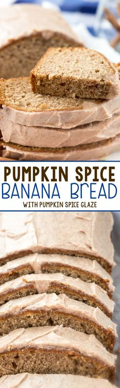 Pumpkin Spice Banana Bread - this easy banana bread is FILLED with pumpkin spice…