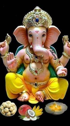 Jai Ganesh, Ganesh Lord, Ganesh Idol, Ganesh Statue, Shree Ganesh, Shri Ganesh Images, Ganesha Pictures, Krishna Art, Ganesha Art