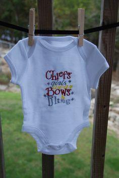 Ready to Ship Kansas City Chiefs Baby Chiefs by HeatherEssary, $13.00