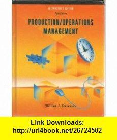 Production/Operations Management Fifth Edition Instructors Edition (9780256197235) William J. Stevenson , ISBN-10: 0256197237  , ISBN-13: 978-0256197235 ,  , tutorials , pdf , ebook , torrent , downloads , rapidshare , filesonic , hotfile , megaupload , fileserve