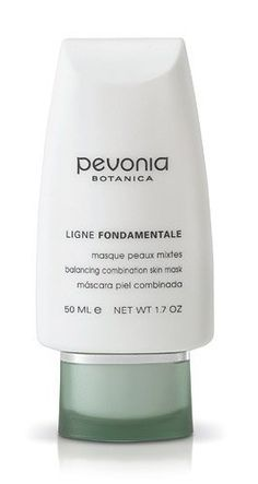 Pevonia Fondamentale Balancing Combination Skin Mask by Pevonia. $38.00. Tightening, Lightening, Rejuvenating Effect.. Aromatic Treatment Mask with green apples and peach extracts!. A great mask for bringing balance to combination skin types.. Creamy and kaolin based, the Balancing Combination Skin Mask helps hydrate, brighten and purify your skin. Wonderfully aromatic, it combines carrot oil, green apple and vitamins to effectively repair and smooth skin, rendering it remarkably...