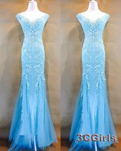 Unqiue teal prom dresses long, v-neck ball gown, 2016 stunning ice blue tllue sequins long occasion dress for teens http://www.3cgirls.com/#!product/prd1/4264591335/stunning-iceblue-sequins-long-prom-dress-for-teens #promdress