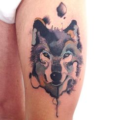 Watercolor Wolf tattoo Art                                                                                                                                                      More
