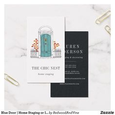 Home staging business cards templates zazzle business logos blue door home staging or interior design business card colourmoves