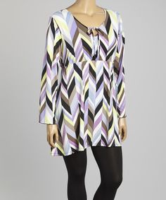 Another great find on #zulily! Lilac & Black Abstract Tunic - Plus #zulilyfinds