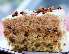 Menu Musings of a Modern American Mom: Butter Pecan Cake with Brown Butter Frosting