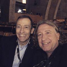"""Con José Luis Llorente ambos conferenciantes del 8º Sport Business Symposium. Ex profesional del baloncesto. Autor del libro """"espíritu de remontada""""."""