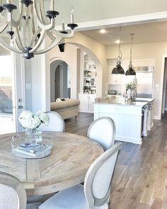 Interior Design Ideas: Love the wood chandelier