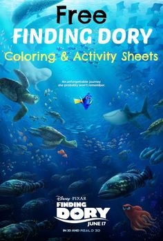 Free downloadable Finding Dory Coloring And Activity Sheets