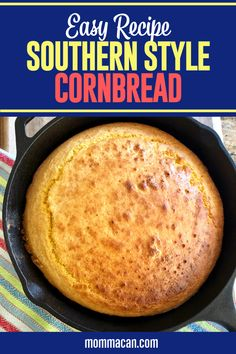 Looking for an easy homemade southern cornbread without buttermilk recipe? This is the best cornbread recipe to make cornbread from scratch easily. Serve this Southern Style Cornbread it with rich real butter and a big pitcher or sweet tea! Buttermilk Cornbread, Homemade Cornbread, Buttermilk Recipes, Sweet Cornbread, Skillet Cornbread, Fried Cornbread, Homemade Breads, Cornbread Recipe From Scratch, Southern Cornbread Recipe