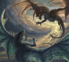 Dragons -with progress vid- by Sunima on DeviantArt