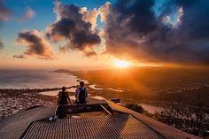 Add to your #bucketlist: Watching the sunset from the peak of Koko Head Crater. (Photo: @DallasNagata) #WhereTraveler #Oahu #Hawaii #sunset #KokoHead #Crater #hiki #wanderlust #IslandLife #skyview