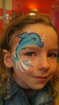 Dolphin Eye Face Painting Design it would make a cute tattoo Eye Face Painting, Face Painting For Boys, Face Paint Makeup, Face Painting Designs, Face Art, Body Painting, Animal Face Paintings, Animal Faces, Mermaid Face Paint