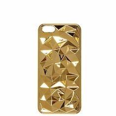Accessorise your phone with this gold tone faceted iPhone 5 case as seen in Reveal #riverisland #inthepress