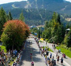 Ironman Canada in Whistler Village. Ironman Events, Ironman Triathlon, Bike Run, Whistler, Festivals, Olympics, Iron Man, Athlete, Dolores Park