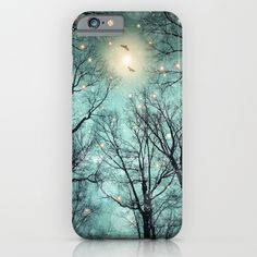 Nature Blazes Before Your Eyes (Mint Embers) iPhone & iPod Case