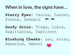 LEO / I would say i definitely blush and may smile a lot more if the guy is being funny or if he laughs at something, then i'll be more inclined to smile and laugh. Zodiac Sign Traits, Zodiac Signs Sagittarius, Zodiac Star Signs, My Zodiac Sign, Zodiac Horoscope, Astrology Signs, Zodiac Facts, Horoscope Memes, Horoscopes Funny