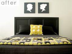 cabeceira de cama com porta usada