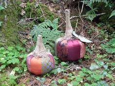 Posh Pumpkins Tutorial - made from old ties
