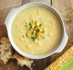 Vitamix: Corn Chowder   1 Tablespoon butter  3/4 cup chopped onion  18 ounces russet potatoes, cut into 1/2-inch cubes  2 cups vegetable stock  3 fresh corn ears, shucked, kernels removed OR 3 cups frozen corn kernels, divided use 1/2 cup milk  Salt  Pepper  Fresh chopped parsley