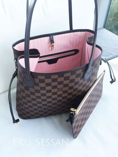 aa686a1506e6 Fru Sessan - Recension  Louis Vuitton Neverfull MM Damier Ebene Rose  Ballerine
